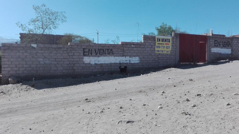 Venta de Terreno en Socabaya, Arequipa 200m2 area total