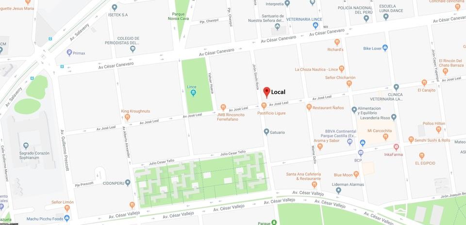 Alquiler de Local en Lince, Lima - en el primer piso