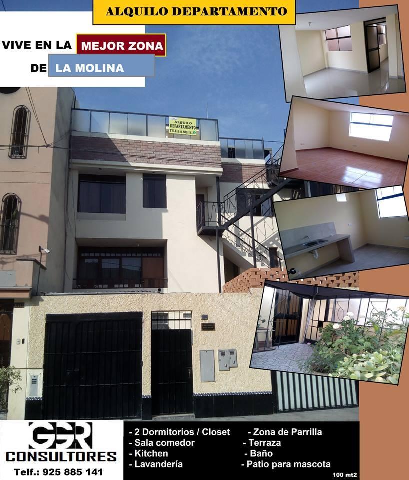 Alquiler de Departamento en La Molina, Lima con 2 dormitorios - vista principal