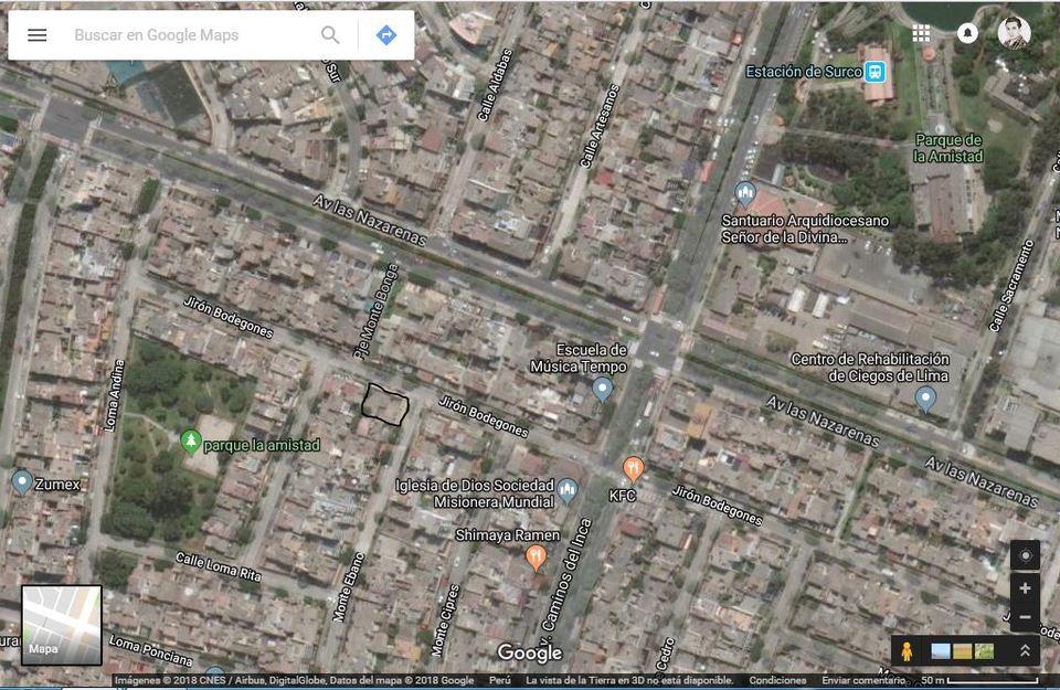 Venta de Terreno en Santiago De Surco, Lima - estado Entrega inmediata