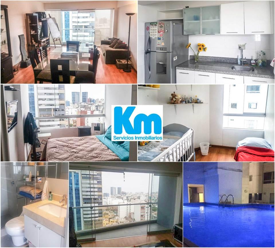 Venta de Departamento en Miraflores, Lima con 3 dormitorios - vista principal