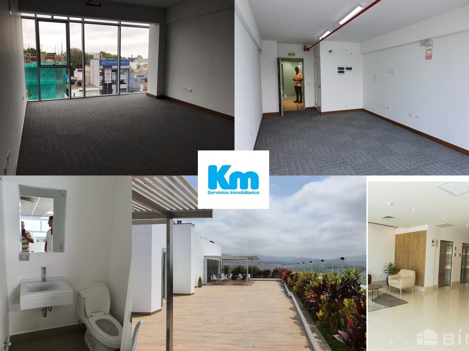 Alquiler de Oficina en Lima con 1 baño 34m2 area total
