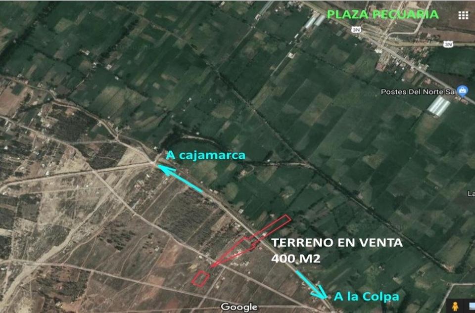 Venta de Terreno en Cajamarca 400m2 area total 20 metros fondo - vista principal