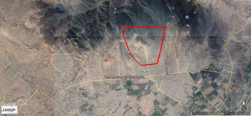 Venta de Terreno en Carabayllo, Lima 840000m2 area total - vista principal