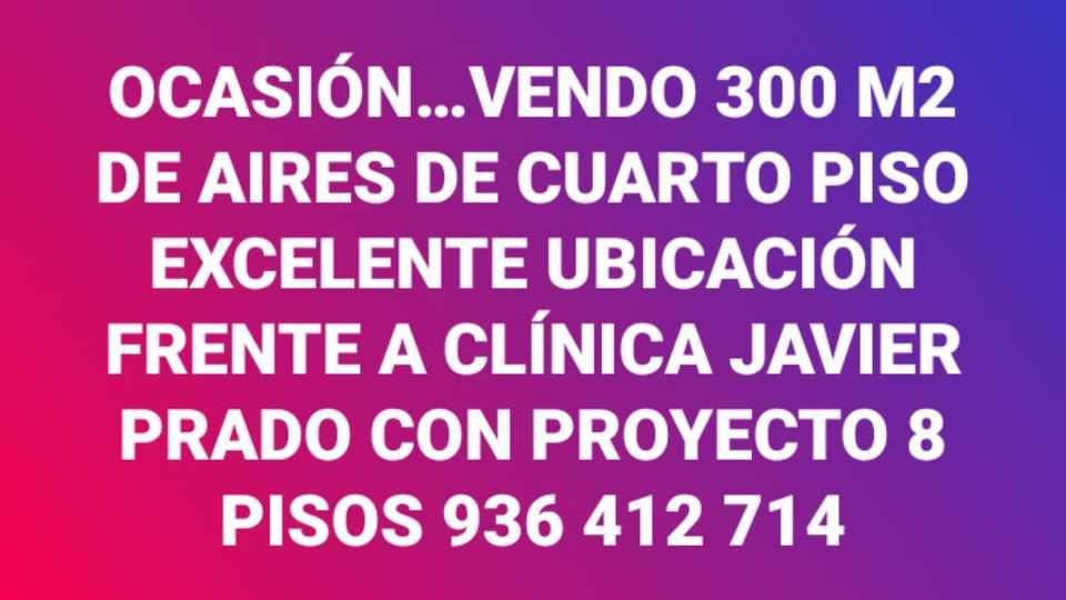 Venta de Terreno en San Isidro, Lima 300m2 area total