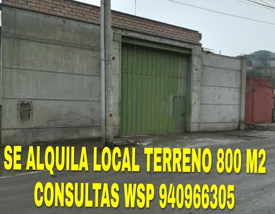 Alquiler de Terreno en Villa Maria Del Triunfo, Lima 809m2 area total - vista principal