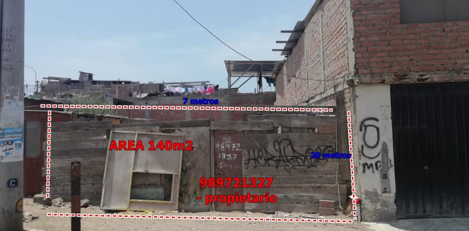 Venta de Terreno en Villa El Salvador, Lima 140m2 area total