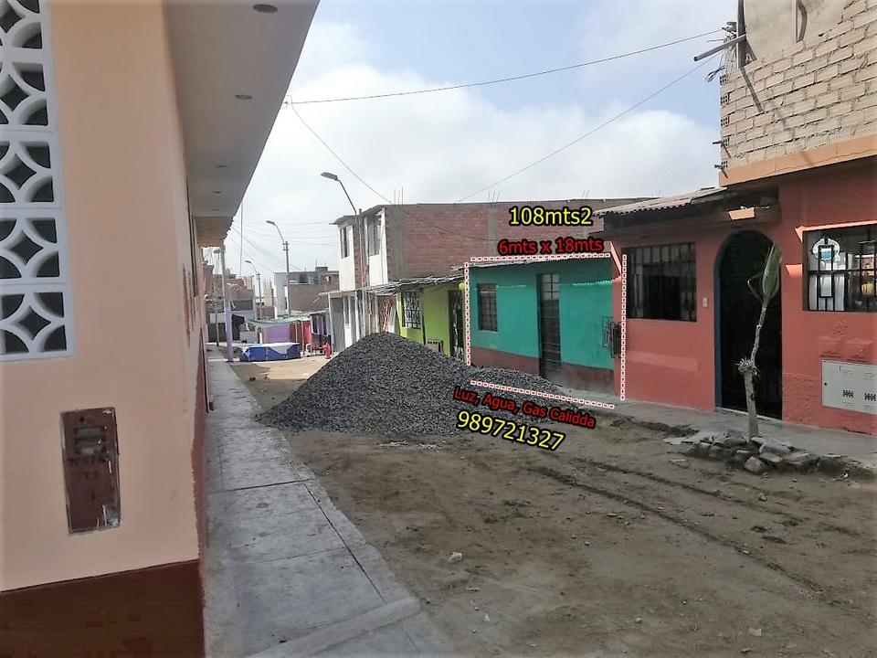 Venta de Terreno en Villa El Salvador, Lima 108m2 area total - vista principal
