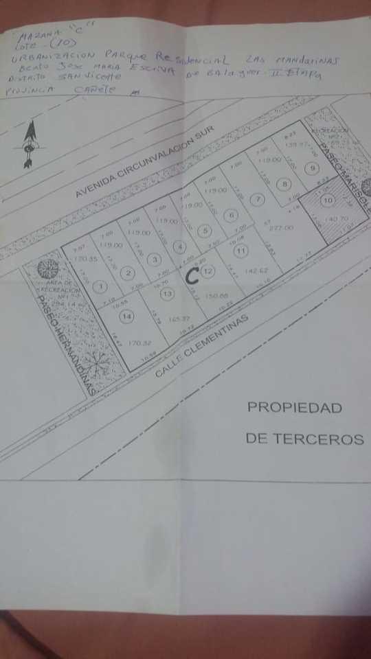 Venta de Terreno en Carabayllo, Lima 144m2 area total - vista principal