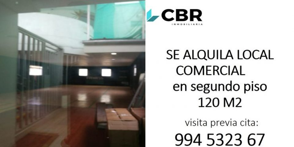 Alquiler de Local en Jesus Maria, Lima 120m2 area total