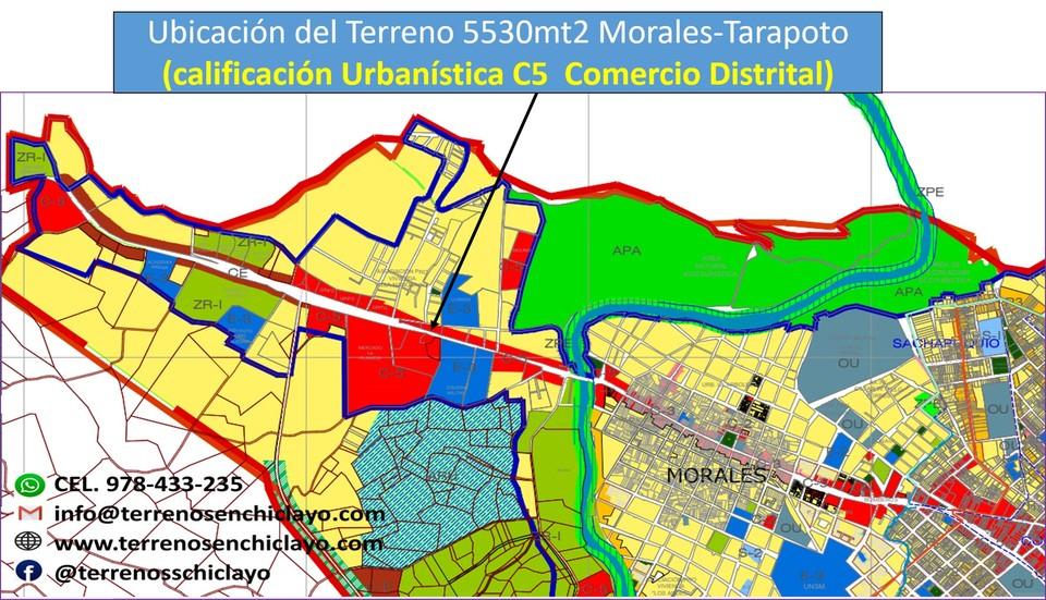 Venta de Terreno en San Martin 5530m2 area total estado Entrega inmediata