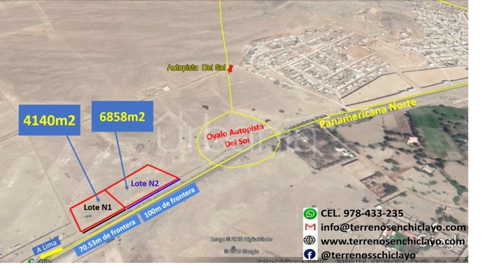 Venta de Local en Reque, Lambayeque 6858m2 area total - vista principal
