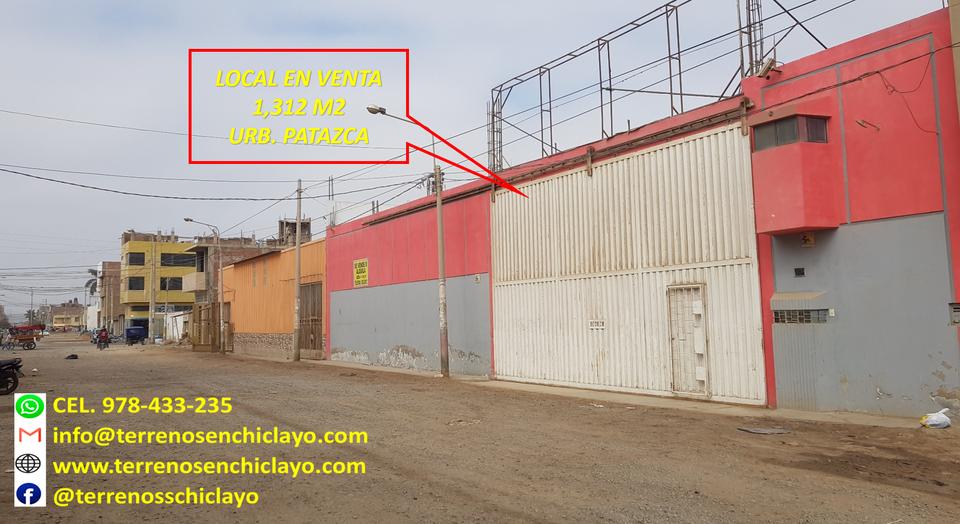 Venta de Local en Chiclayo, Lambayeque 1312m2 area total - vista principal
