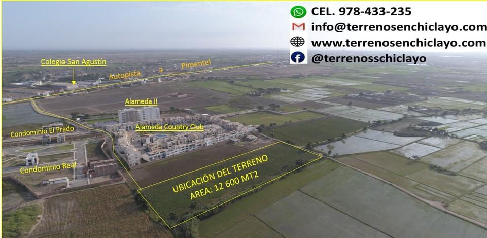 Venta de Terreno en Pimentel, Lambayeque 12600m2 area total - vista principal