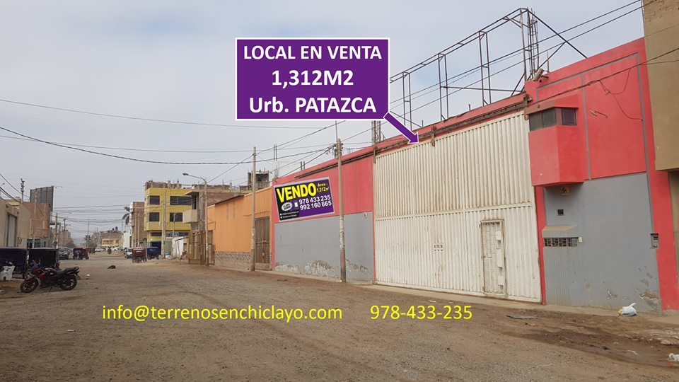 Venta de Local en Chiclayo, Lambayeque 1312m2 area total - vista principal