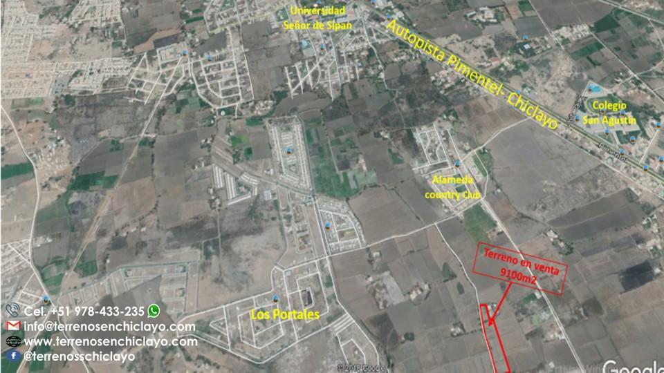 Venta de Terreno en Chiclayo, Lambayeque 9100m2 area total - vista principal