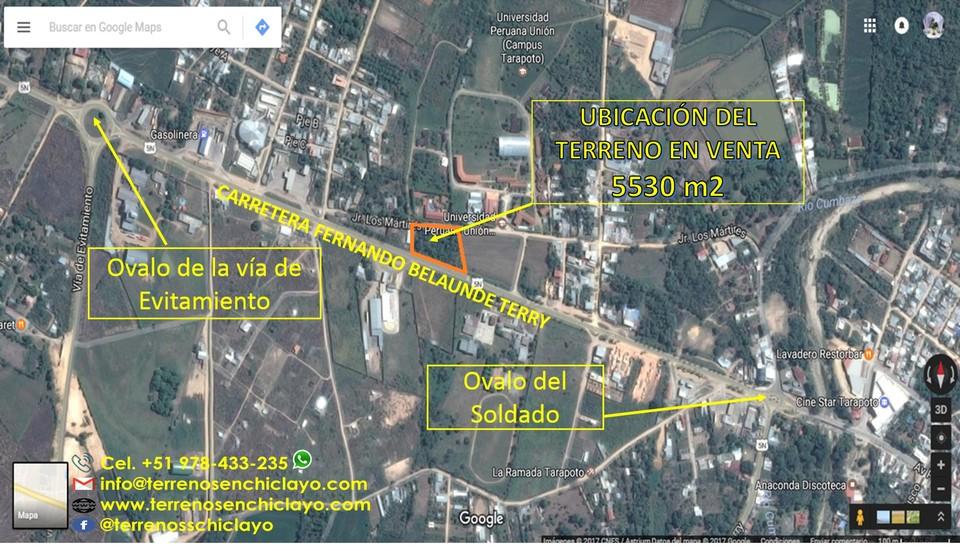 Venta de Terreno en Morales, San Martin 5530m2 area total