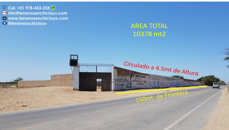 Venta de Local en Chiclayo, Lambayeque 10378m2 area total - vista principal