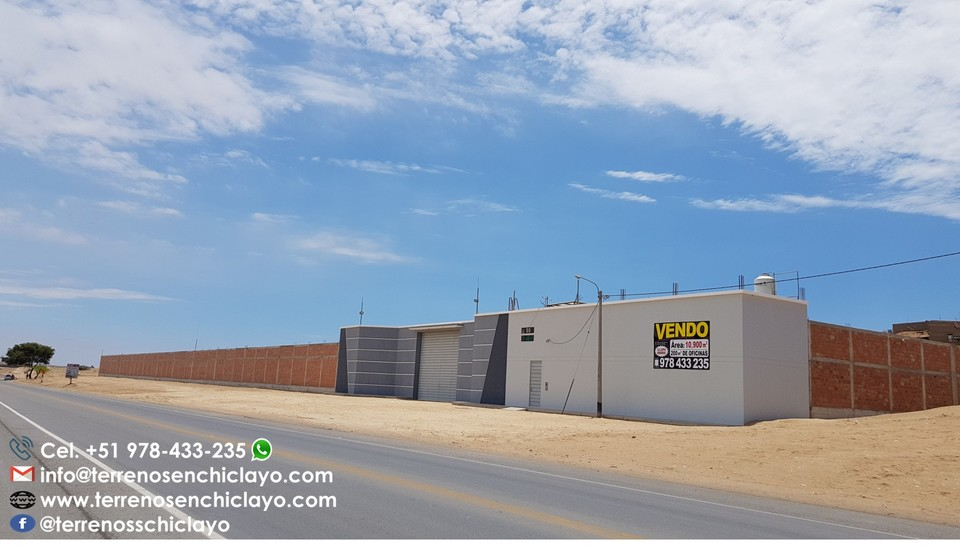 Venta de Local en Chiclayo, Lambayeque 10900m2 area total