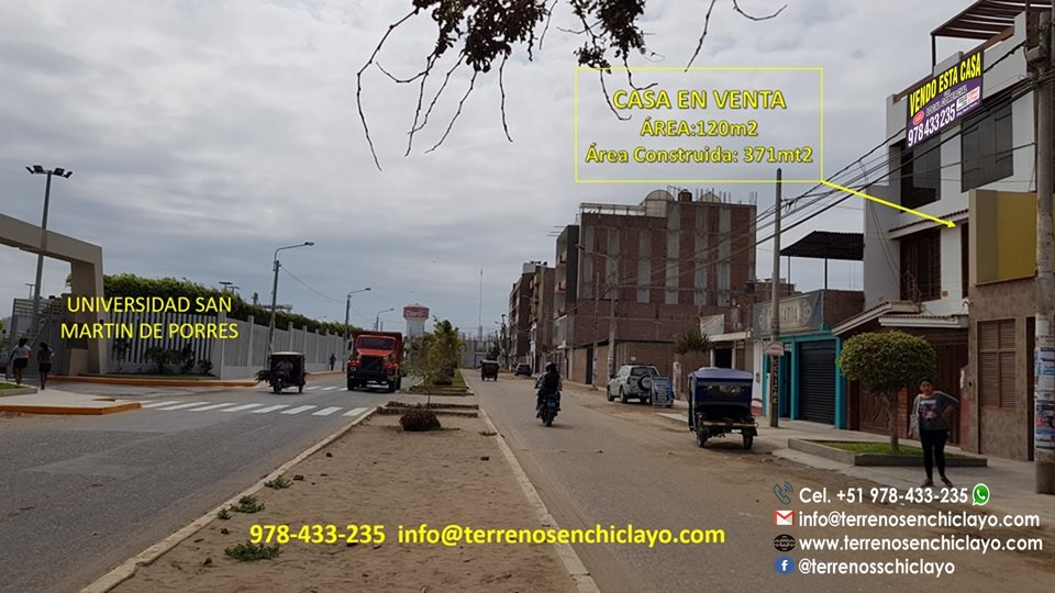 Venta de Casa en Chiclayo, Lambayeque - vista principal