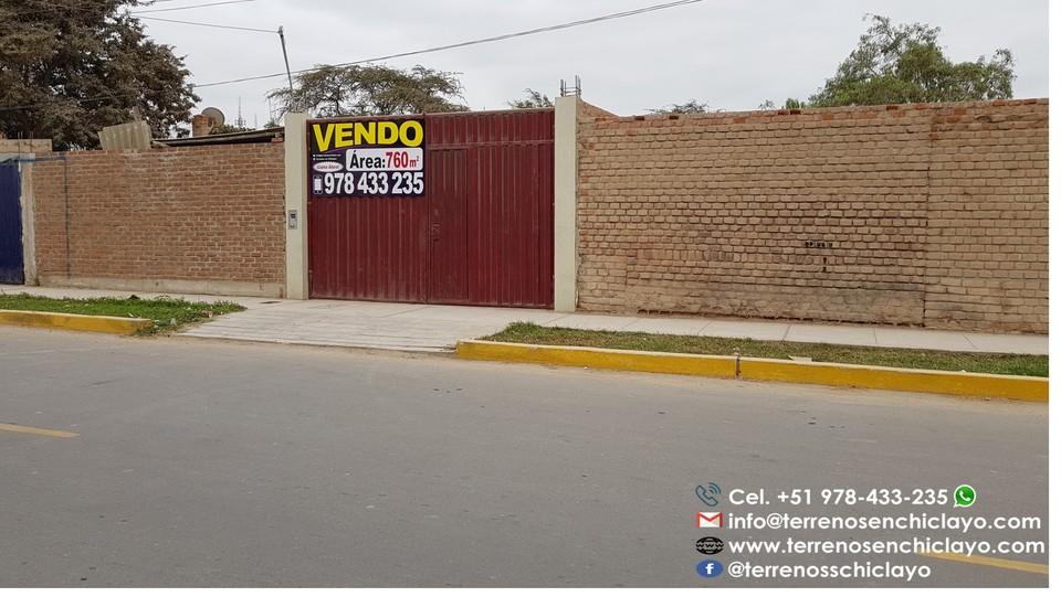 Venta de Terreno en Chiclayo, Lambayeque 760m2 area total