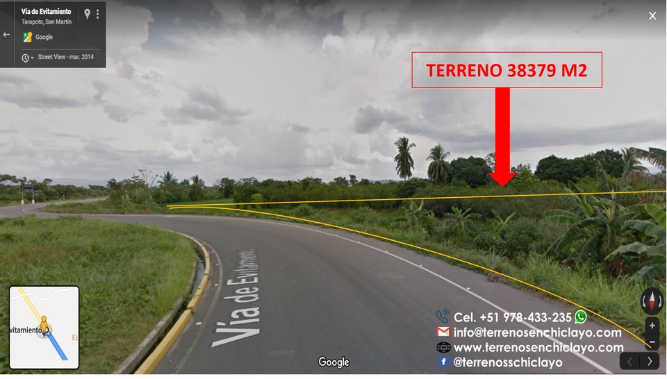 Venta de Terreno en Morales, San Martin 38379m2 area total