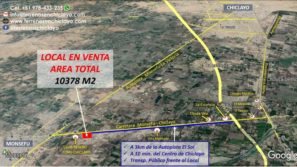 Venta de Local en Chiclayo, Lambayeque 10378m2 area total