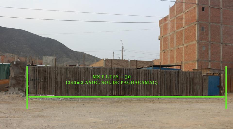 Venta de Terreno en Pachacamac, Lima 240m2 area total