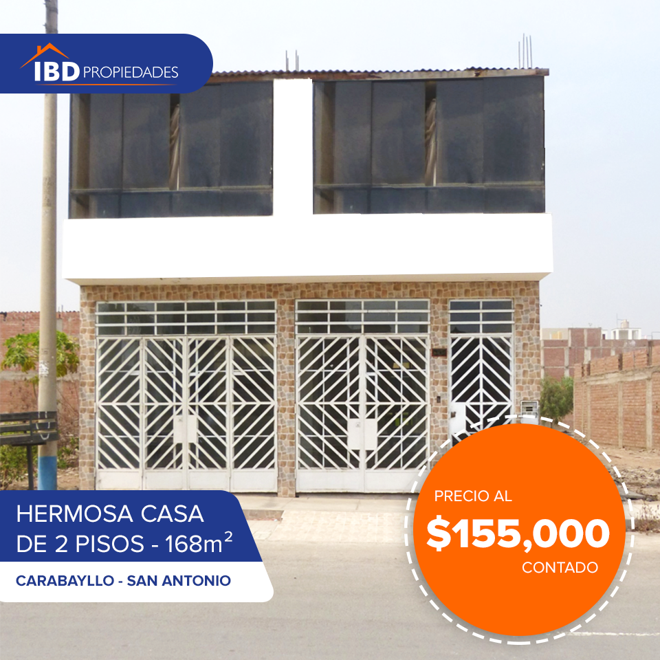 Venta de Casa en Puente Piedra, Lima 168m2 area total - vista principal