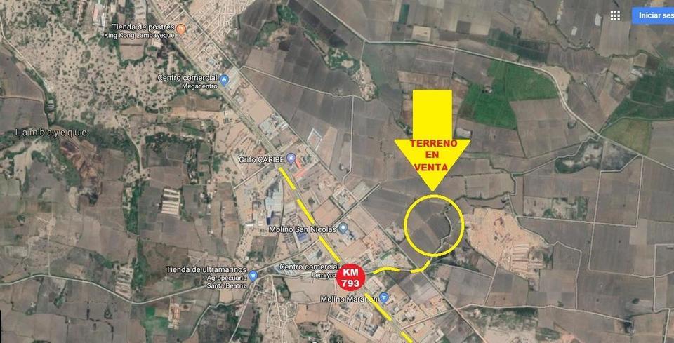 Venta de Terreno en Chiclayo, Lambayeque 10500m2 area total - vista principal