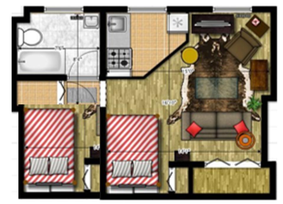 Alquiler de Departamento en Ayacucho con 1 dormitorio con 1 baño - vista principal