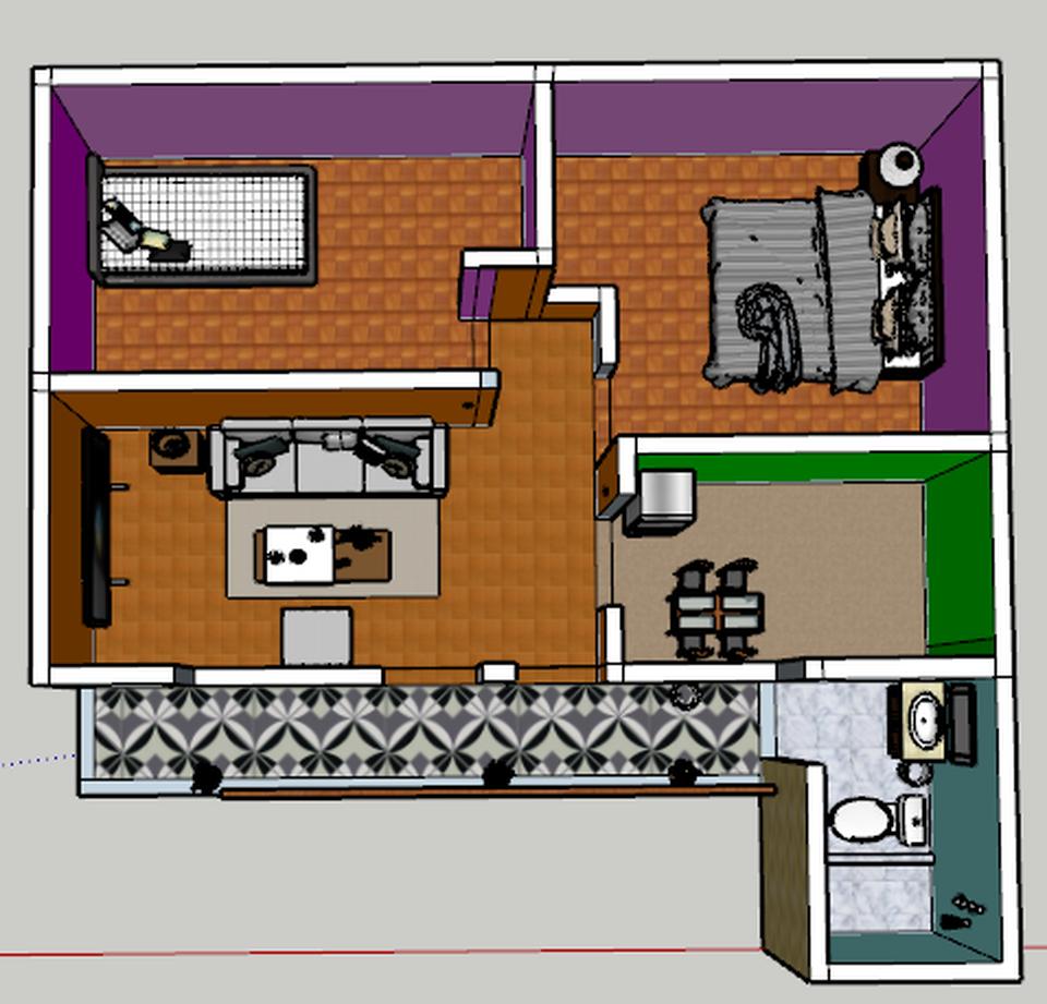 Alquiler de Departamento en Ayacucho con 2 dormitorios con 1 baño