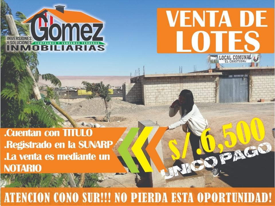 Venta de Terreno en Tacna 134m2 area total 18 metros fondo - vista principal