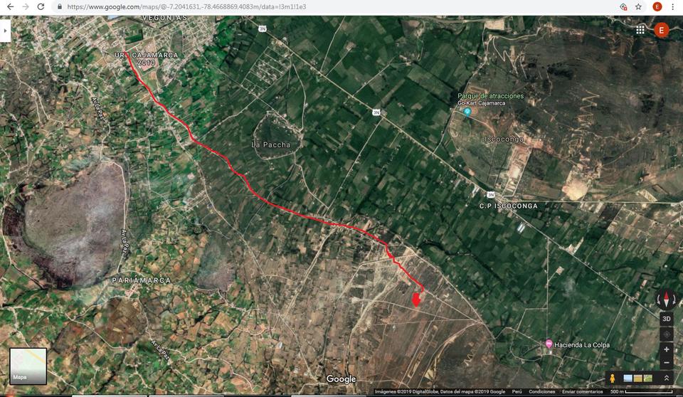 Venta de Terreno en Cajamarca 10000m2 area total - vista principal