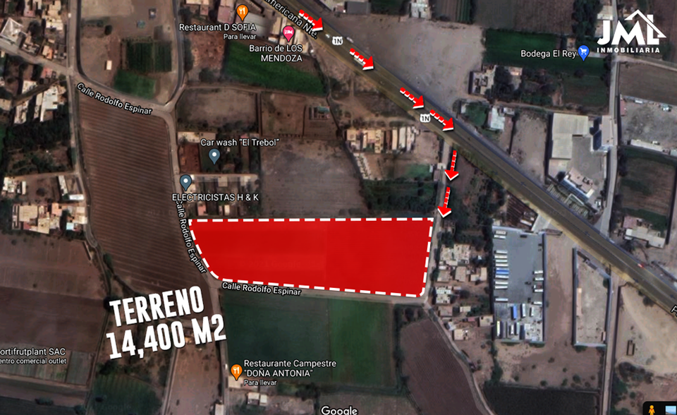 Venta de Terreno en Trujillo, La Libertad 14400m2 area total