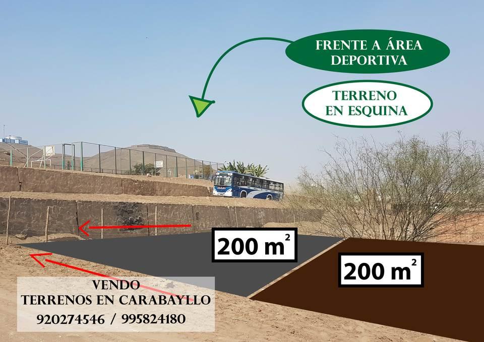 Venta de Terreno en Carabayllo, Lima 200m2 area total - vista principal