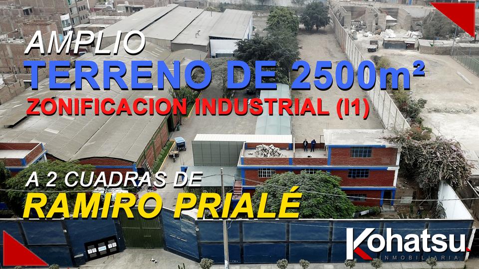 Venta de Terreno en San Juan De Lurigancho, Lima 2500m2 area total