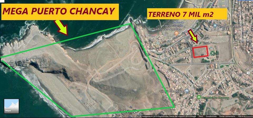 Venta de Terreno en Chancay, Lima 7414m2 area total
