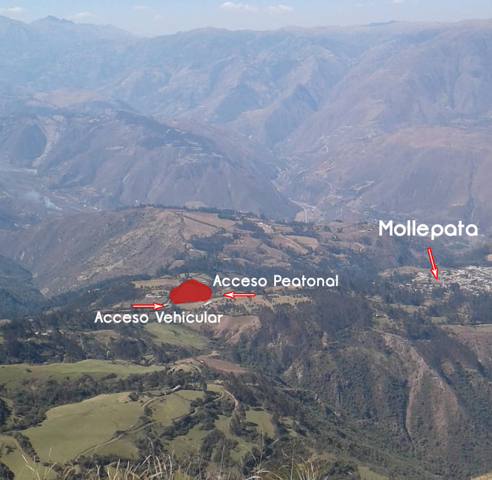 Venta de Terreno en Mollepata, Cusco 23290m2 area total