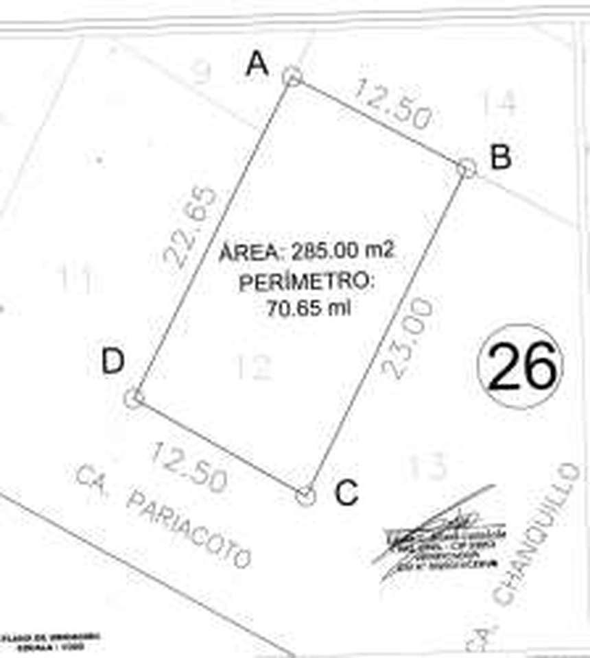 Venta de Terreno en Comandante Noel, Ancash 285m2 area total