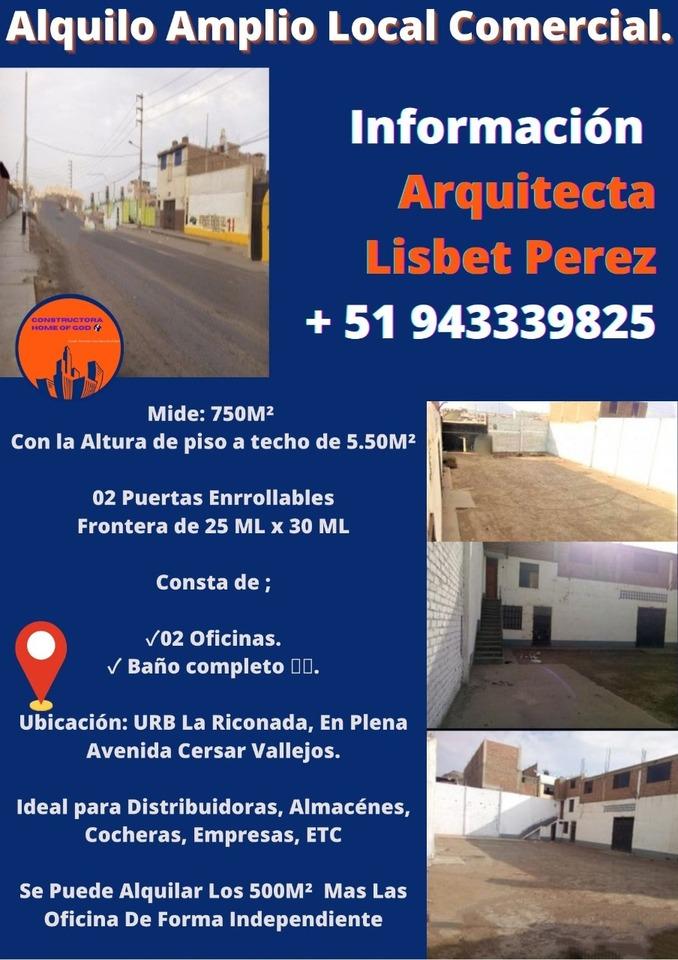 Alquiler de Local en Trujillo, La Libertad 720m2 area total