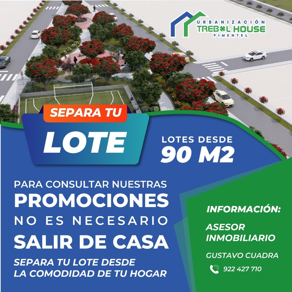 Venta de Terreno en Chiclayo, Lambayeque 90m2 area total