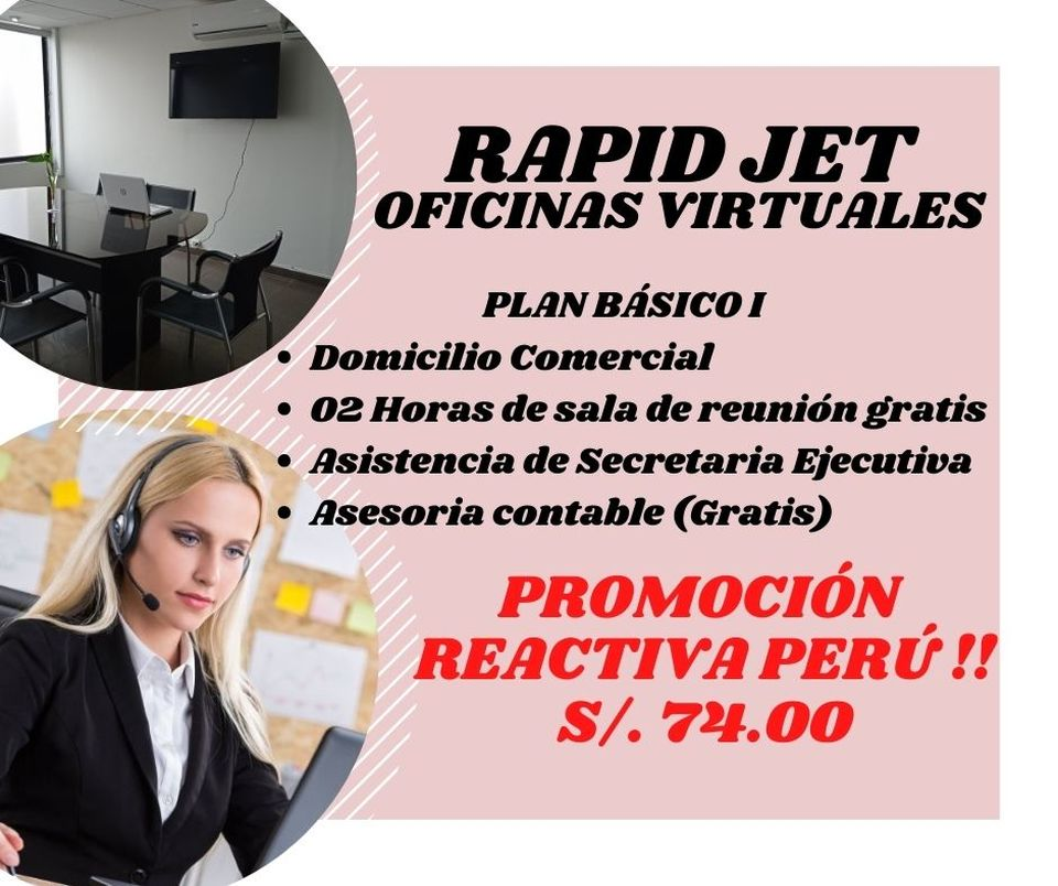 Alquiler de Oficina en Miraflores, Lima amoblado
