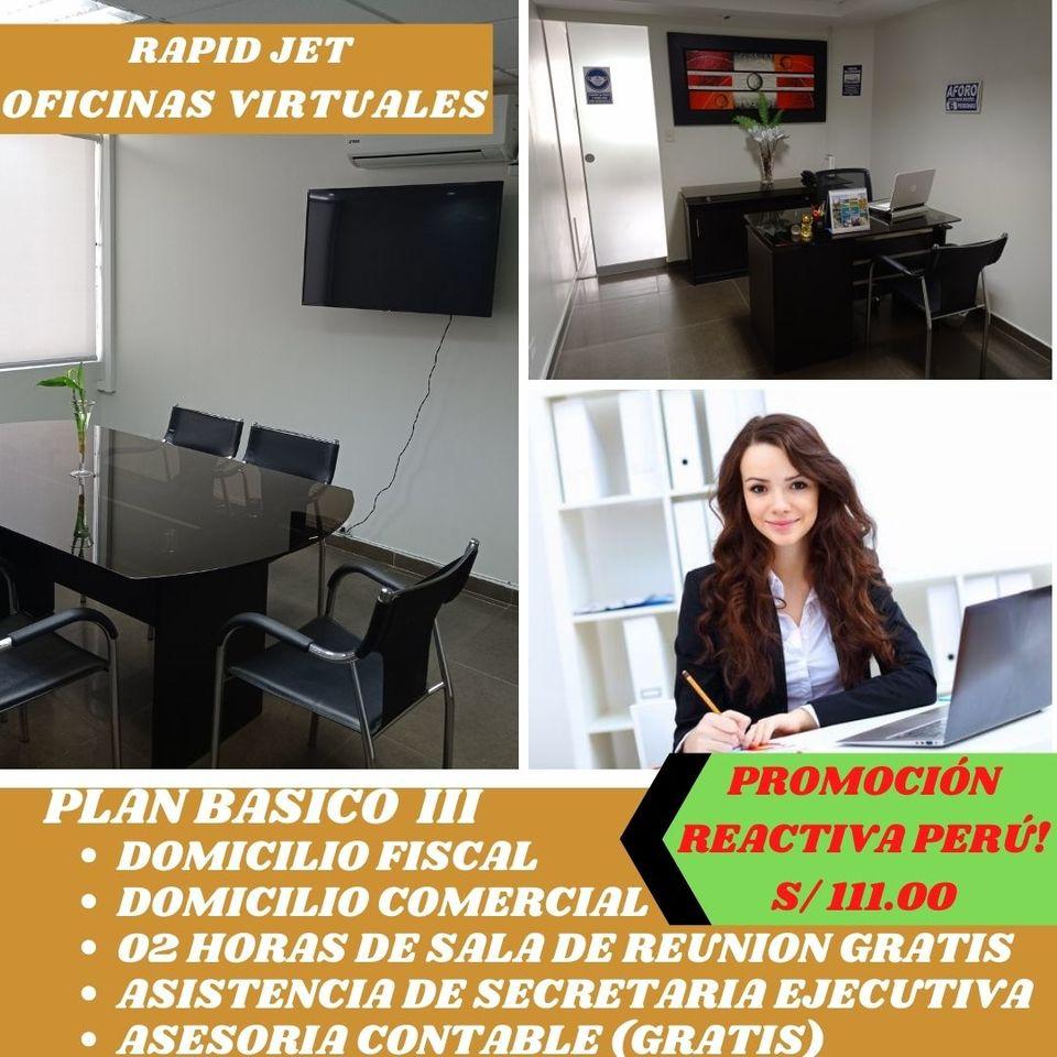Alquiler de Oficina en Miraflores, Lima con 1 baño