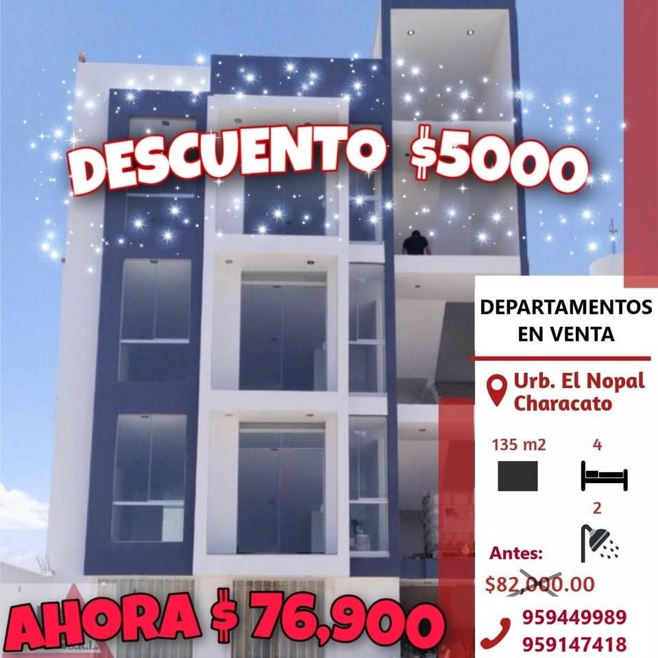Venta de Departamento en Arequipa con 4 dormitorios con 2 baños