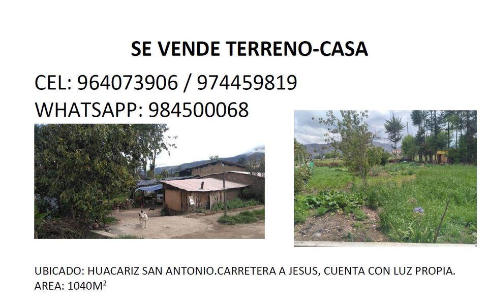 Venta de Terreno en Cajamarca 1040m2 area total estado Preventa