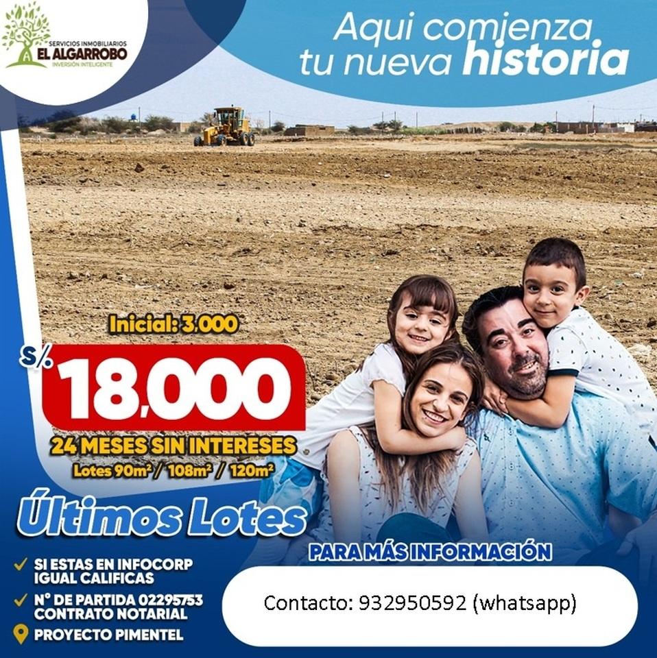 Venta de Terreno en Chiclayo, Lambayeque 120m2 area total