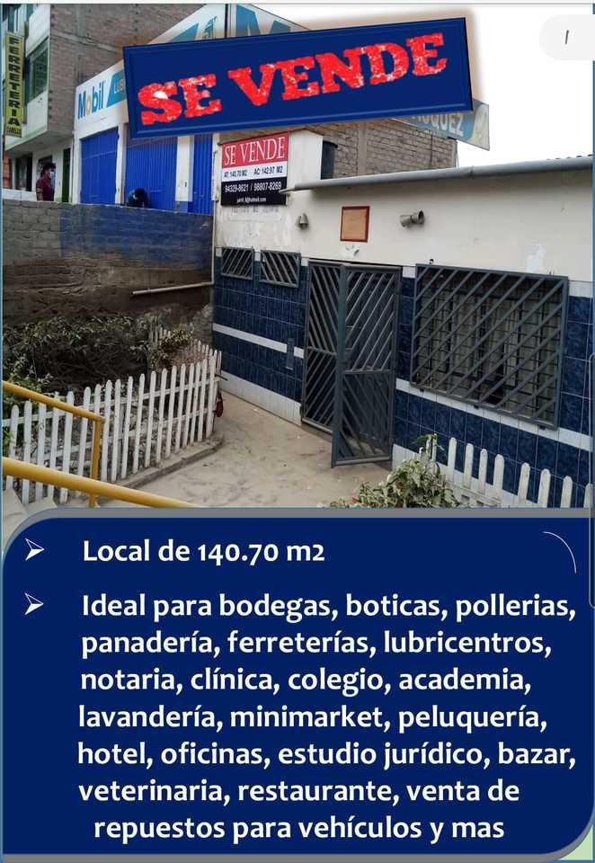 Venta de Local en Ate, Lima - vista principal