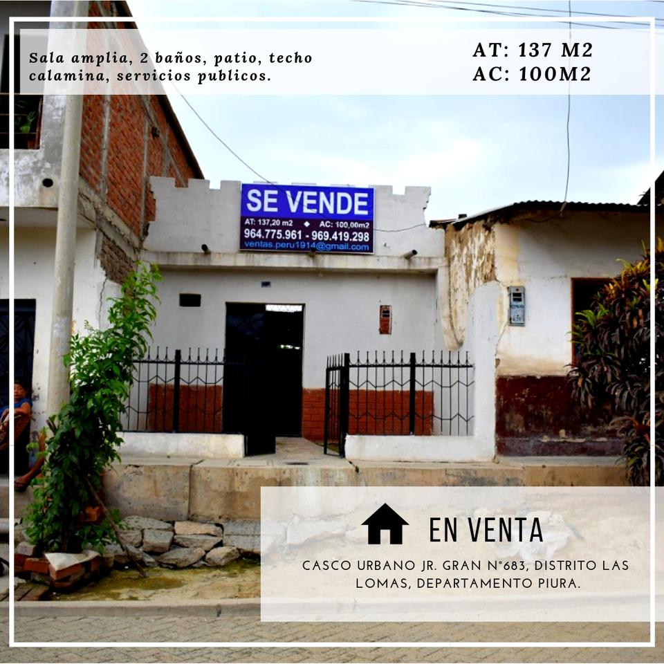 Venta de Local en Las Lomas, Piura - vista principal