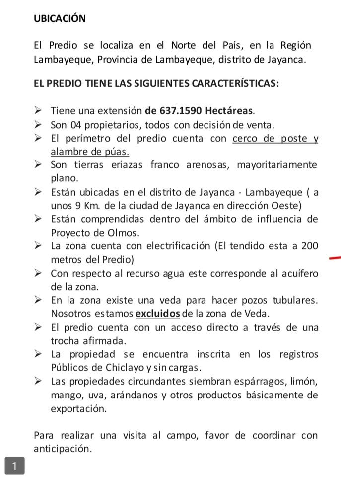 Venta de Terreno en Pomalca, Lambayeque 250m2 area total